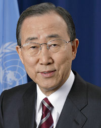 Secretaris-generaal Ban Ki-moon van de Verenigde Naties